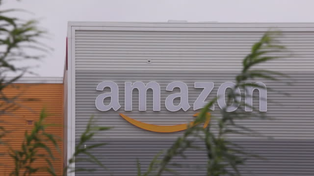 interiors and exteriors of the amazon warehouse in kegworth, uk ahead of amazon prime day event on monday, october 12, 2020. - cardboard box stock videos & royalty-free footage