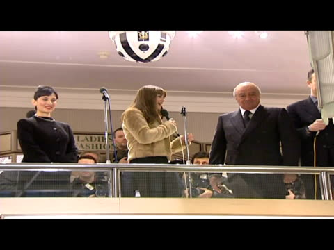 interiors charlotte church open harrods sale with mohammed al fayed. - charlotte church stock videos & royalty-free footage