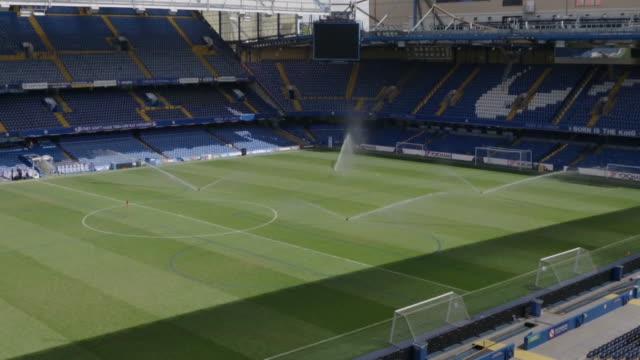 Interiors empty Stamford Bridge Chelsea Football Club stadium