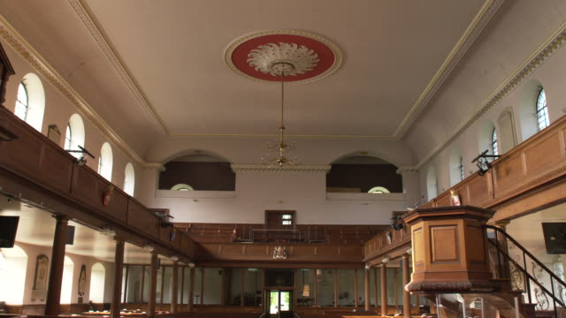 interiors holy trinity church, clapham - 40 seconds or greater stock videos & royalty-free footage