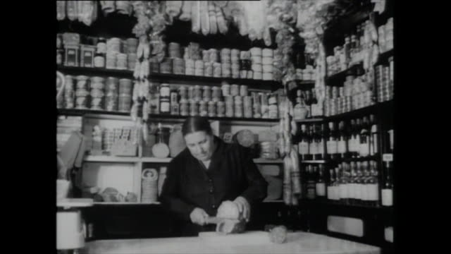interiors italian deli in london; london, 1959 - 1959 stock videos & royalty-free footage