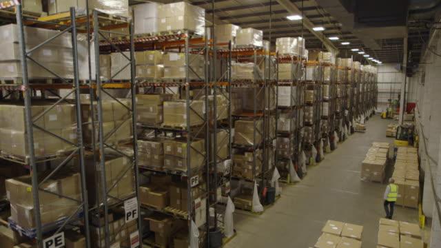 interiors large stock warehouse - cardboard box stock videos & royalty-free footage