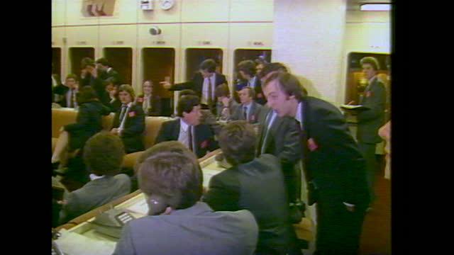 interiors london gold futures market trading floor; 1982 - western script stock videos & royalty-free footage