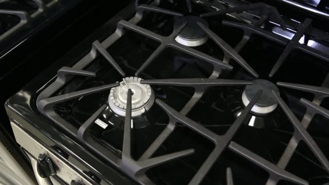 interiors of a lowes appliance store in torrance california us broll of various general electric stove models for sale lowes store general electric... - general electric stock videos and b-roll footage