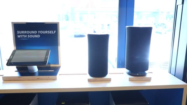 Interiors of an ATT retail store as smart phone and tablet products sit on display in Newport Beach CA on August 10 2017 Photographer Patrick Fallon...