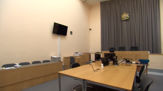interiors of an empty magistrates court milton keynes - religious equipment stock videos & royalty-free footage