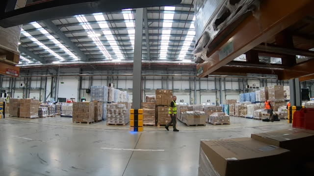 interiors of arco warehouse, one of the uk's largest ppe providers - health and safety stock videos & royalty-free footage