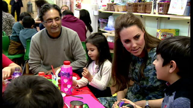 interiors of catherine, duchess of cambridge meeting children on february 18, 2015 in smethwick, england. - peerage title stock videos & royalty-free footage