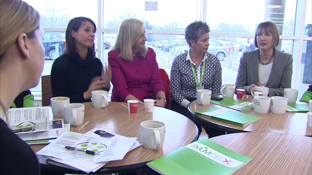 interiors of harriet harman - deputy leader of the labour party, gloria de piero - shadow minister for women & equalities & lucy powell - vice chair... - gloria de piero stock videos & royalty-free footage