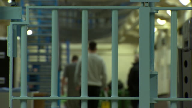 interiors of hmp leeds prison - uk prison stock videos & royalty-free footage