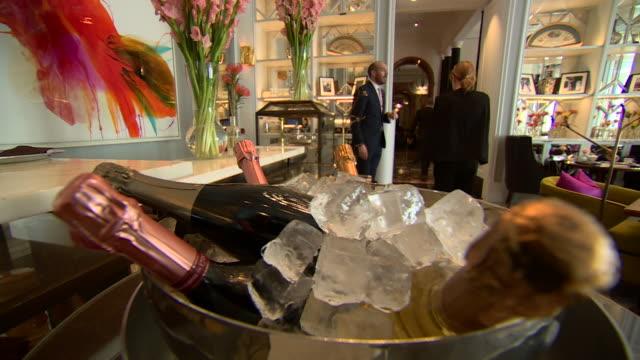 interiors of luxury hotel mandarin oriental in hyde park london - luxury stock videos & royalty-free footage