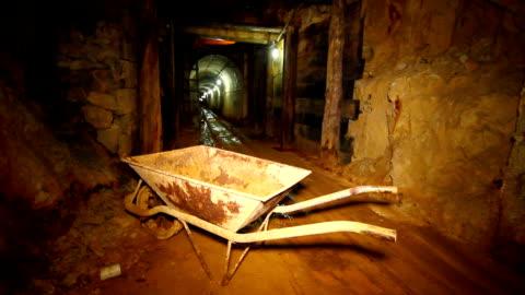 interiors of old gold mine. - det förflutna bildbanksvideor och videomaterial från bakom kulisserna