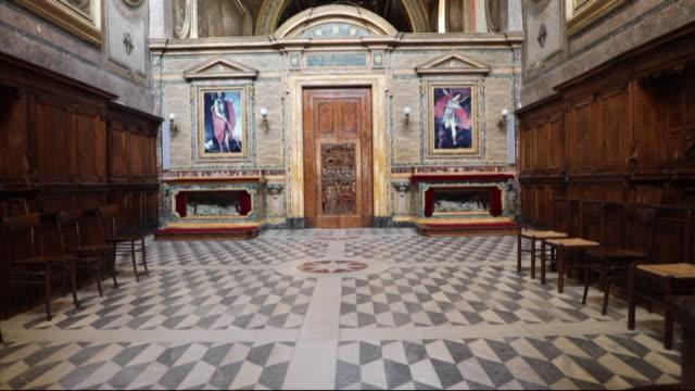 Interiors of Trisulti Monastery in Collepardo Italy