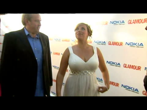 interiors pregnant charlotte church walks on red carpet. - charlotte church stock videos & royalty-free footage