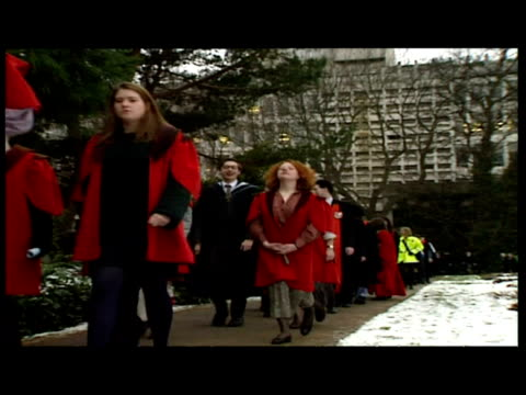 interiors prince of wales prince philip duke of edinburgh meeting shaking hands with people interiors charles philip walk in gowns exteriors... - graduation gown stock videos and b-roll footage