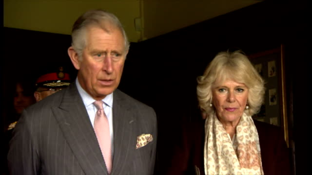 interiors shows prince charles and camilla being given tour of rudyard kipling's former home royal pair look in rooms and at books on october 16 2013... - rudyard kipling stock videos & royalty-free footage