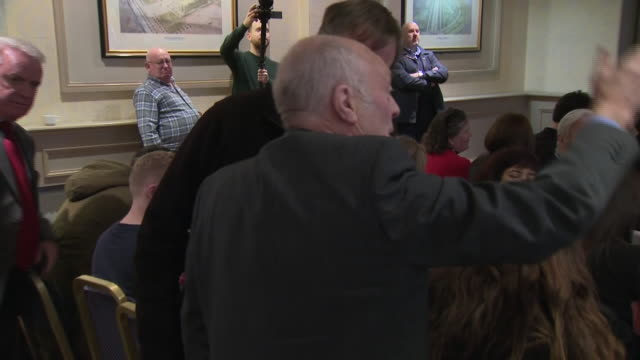 interiror shots of labour leader jeremy corbyn getting heckled by a scottish man about a second scottish independence referendum during his campaign... - scottish national party stock videos & royalty-free footage