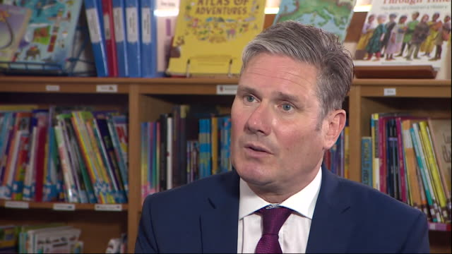 internal interview with leader of the labour party, keir starmer discussing labours close the gap strategy for school catch up after covid related... - leadership stock videos & royalty-free footage