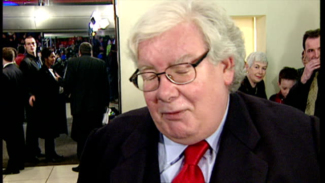 stockvideo's en b-roll-footage met internal interview with richard griffiths at the premiere of harry potter and the philosopher's stone on november 4 2001 in london england - harry potter naam kunstwerk