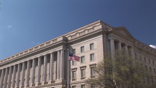 internal revenue service headquarter building, washington dc, washington, usa, ms - government building stock videos and b-roll footage