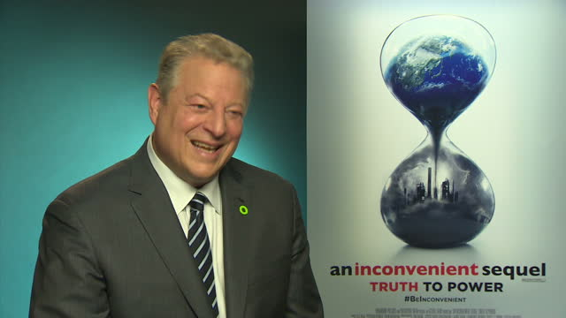 vídeos de stock, filmes e b-roll de internal shots interview with al gore former us vice president re speaking about president donald trump sustainability climate change trump pulling... - a. gore