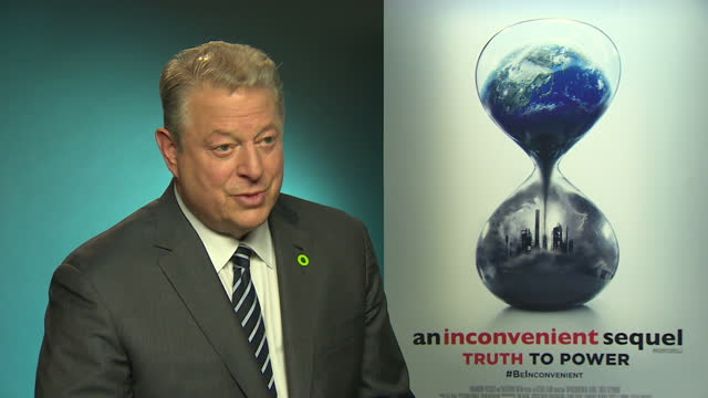 internal shots interview with al gore, former us vice president re: speaking about president donald trump, sustainability, climate change, trump... - paris agreement stock videos & royalty-free footage