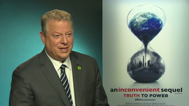 internal shots interview with al gore, former us vice president re: speaking about president donald trump, sustainability, climate change, trump... - ドキュメンタリー映画点の映像素材/bロール