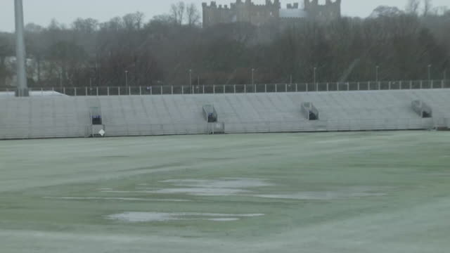 internal shots of frozen pitch winter conditions at the emirates riverside ground on the 24th february 2020 in chesterlestreet england - frost stock videos & royalty-free footage