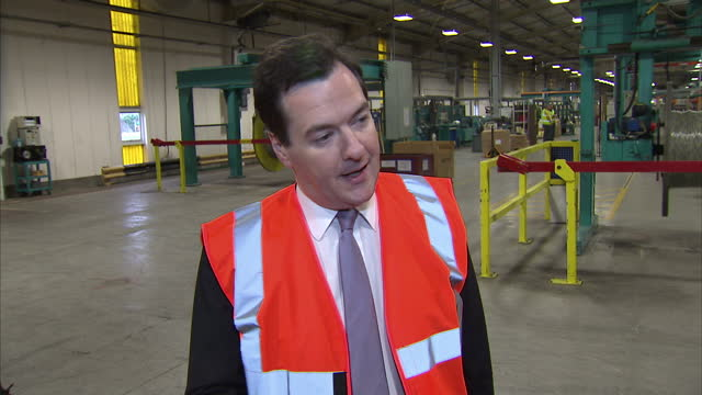 Internal shots Sky reporter Richard Suchet asks George Osborne Chancellor if he would eat a ready made lasagna George Osborne Offered Ready Meal...