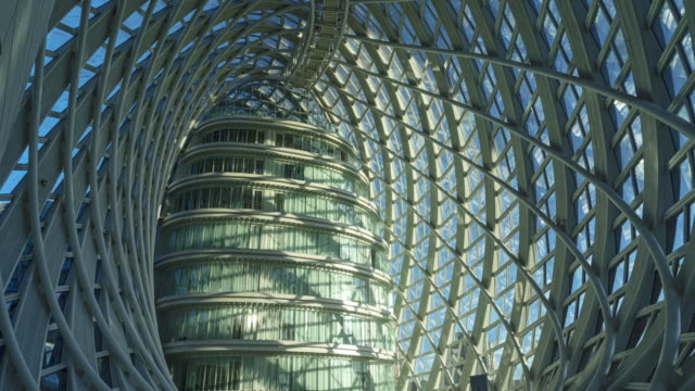 internal structure of office building - glass material stock videos & royalty-free footage
