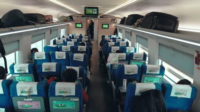 internal view of high speed railway - passagier stock-videos und b-roll-filmmaterial