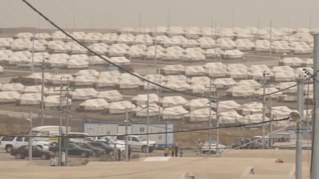 internally displaced persons yezidis staying in unhcr tents following 2014 northern iraq offensive in isil conflict - isil conflict stock videos & royalty-free footage