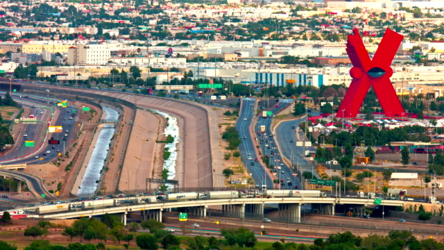 International Border  at El Paso  Texas