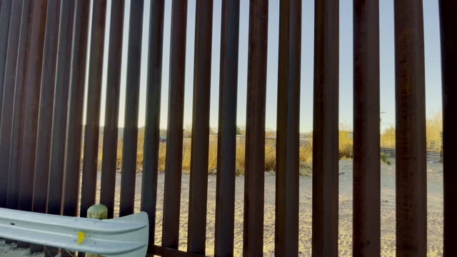 international border wall from sunland park new mexico looking in to puerto anapra chihuahua - international border barrier stock videos & royalty-free footage