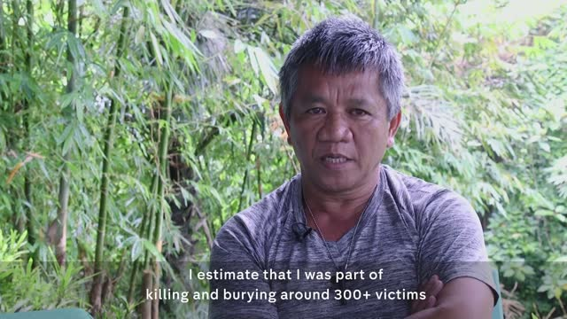 international criminal court calls for investigation into president rodrigo duterte's drugs war; philippines: ext edgar matobato along with reporter... - war and conflict stock videos & royalty-free footage