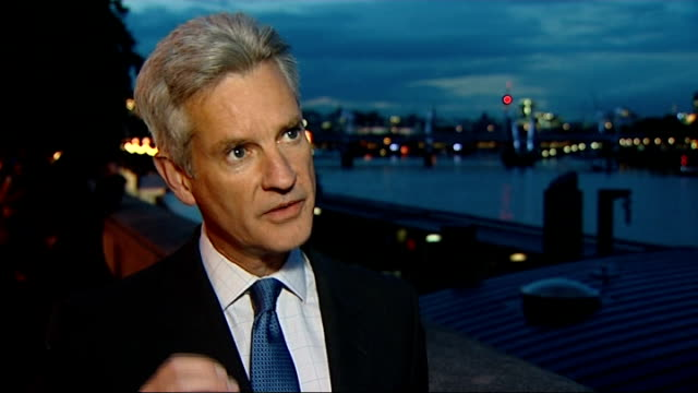 international criminal court to examine claims british carried out war crimes in iraq ext / night colonel stuart tootal interview sot - international criminal court stock videos and b-roll footage