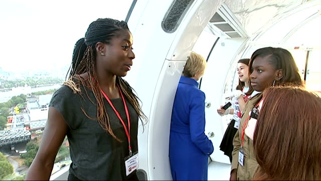 women mentoring event at south bank england london south bank int various of 'celebrity' women mentors talking to schoolgirls in pod of london eye... - cathy newman stock-videos und b-roll-filmmaterial