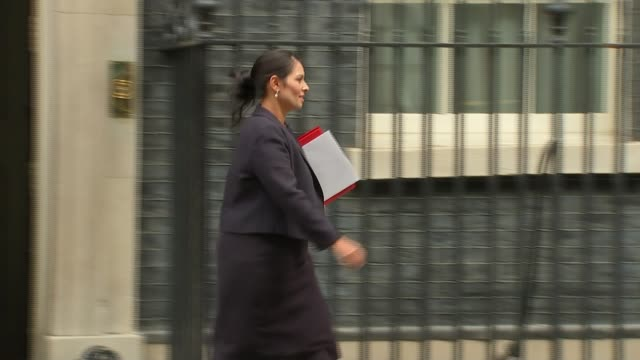 international development secretary priti patel resigns over israeli meetings date priti patel leaving number 10 - priti patel stock-videos und b-roll-filmmaterial