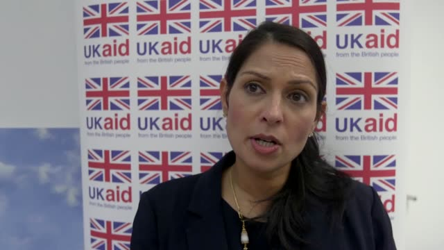 international development secretary priti patel visits disasters emergency committee hq to mark one week on since the appeal launched for rohingya... - priti patel stock-videos und b-roll-filmmaterial