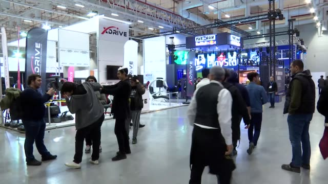 international entertainment and games expo gaming istanbul 2019 started in istanbul on thursday this year the fourth edition of the event was... - wettbewerb unterhaltungsveranstaltung stock-videos und b-roll-filmmaterial