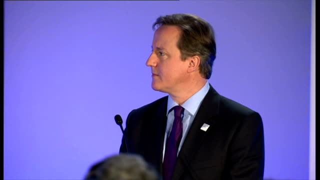 international festival for business 2014 launch: david cameron speech; england: merseyside: liverpool: 'international festival for business 2014'... - capital letter点の映像素材/bロール