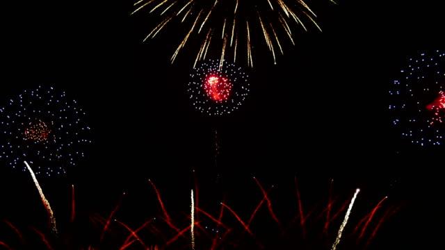 international fireworks festival 2018 in pattaya, thailand - july stock videos & royalty-free footage
