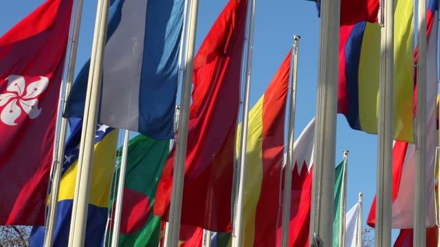 vidéos et rushes de drapeaux internationaux - drapeau national
