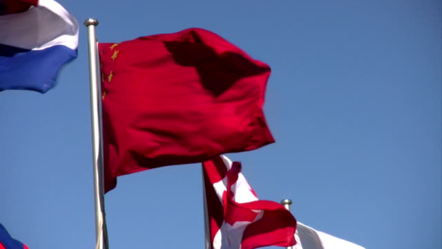 international flags - kanada stock-videos und b-roll-filmmaterial