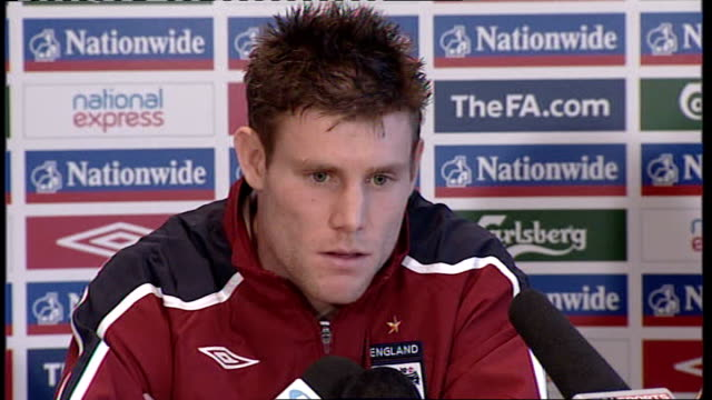 england press conference milner press conference sot being part of england squad is nice distraction from premier league / thinks england setup is... - double chance stock videos & royalty-free footage