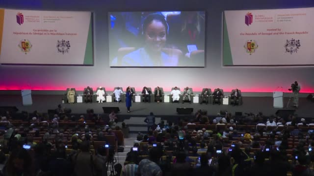 international leaders pledge better financing for education at a conference in dakar organised by the global partnership for education with... - ambassador stock videos & royalty-free footage