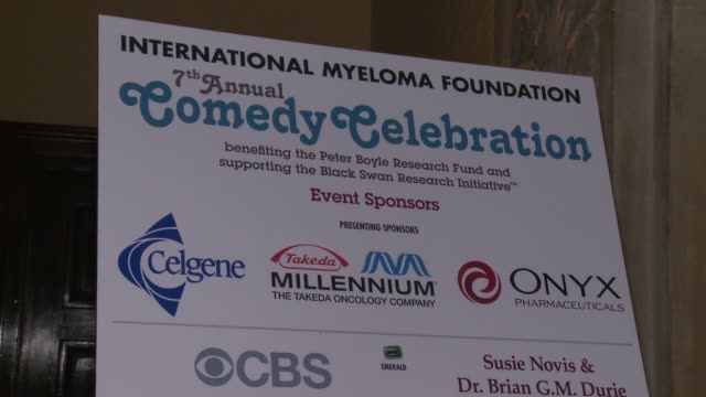 international myeloma foundation 7th annual comedy celebration benefiting the peter boyle research fund & supporting the black swan research... - peter boyle stock videos & royalty-free footage