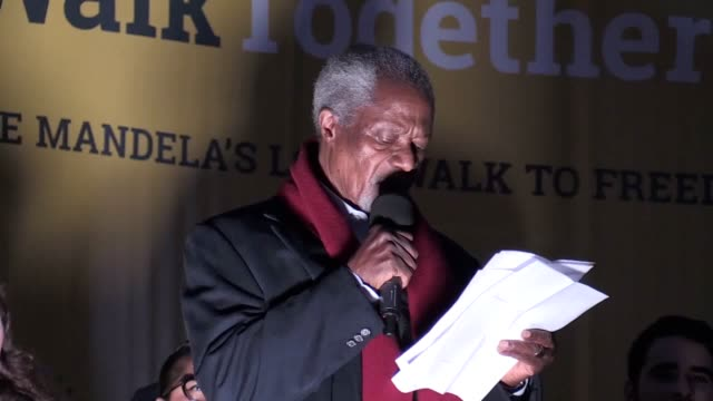 International nongovernmental organisation The Elders march for peace in memory of Nelson Mandela Kofi Annan and Mandela's widow Graca Michel give...