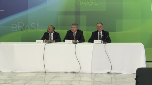 international olympic committee president thomas bach on tuesday praised preparations for next years rio games despite concerns over polluted water... - tame stock videos and b-roll footage
