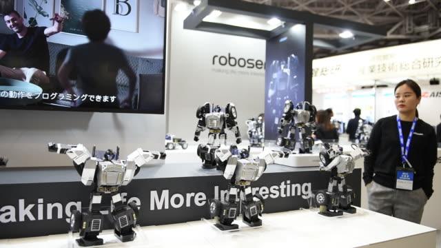 vidéos et rushes de international robot exhibition in tokyo japan on wednesday december 18 2019 - ingénierie